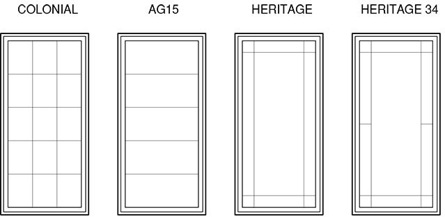 Wide selection of window shapes and sizes for your for Window shapes and sizes